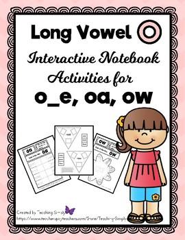 Long Vowel o - Interactive Notebook - RTI - o_e, oa, ow