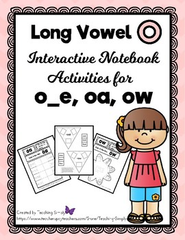 VOWELS - Interactive Notebook - Long Vowel o - RTI