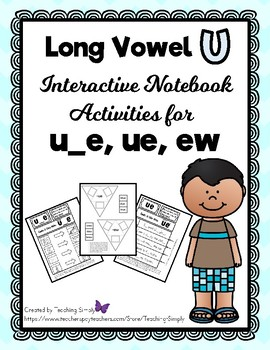 VOWELS - Interactive Notebook - Long Vowel u - RTI