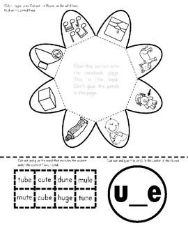 Long Vowel u Interactive Notebook
