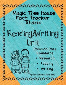 Titanic- Magic Tree House: Reading Lesson Plan, No Prep, Comprehension/Writing
