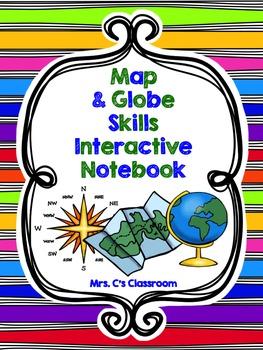 Interactive Notebook - Map and Globe Skills (Social Studies)