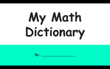 Digital Notebook - Math Dictionary