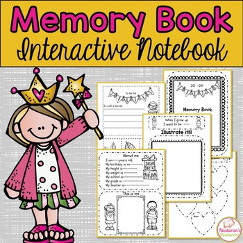 End of Year Memory Book and Activities :Interactive Notebook