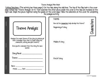 Interactive Notebook Mini Book: Theme Analysis