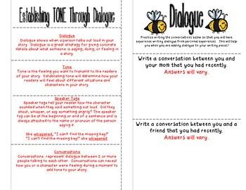 Interactive Notebook Mini-Lesson: Dialogue