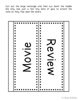 Movie Study Interactive Notebook Novel Unit Study Activities, Book Report