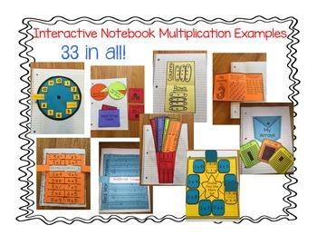 Interactive Notebook- Multiplication