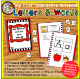 Interactive Notebook - My First Letters & Words - Alphabet Review