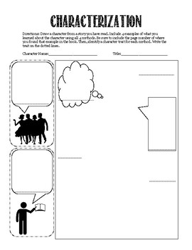 Interactive Notebook Narrative Characterization Activity