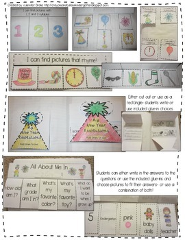Interactive Notebook: New Years!  PreK-1 & CC Aligned to Ring in the New Year!