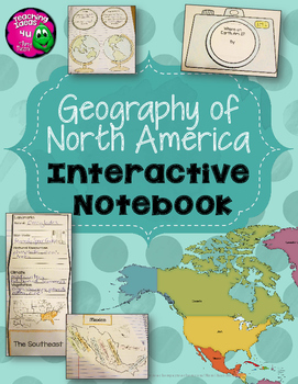 Interactive Notebook North America & United States Geography 3rd Grade