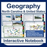 Interactive Notebook! North Carolina and United States Geography