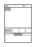 Interactive Notebook Note Sheet