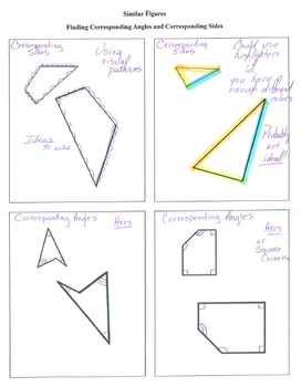 Interactive Notebook Notepage Similar Figures Geometry Lesson Math Activity