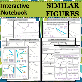 Interactive Notebook Notepage Similar Figures Geometry Les