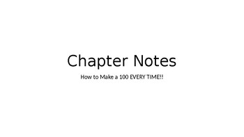 Interactive Notebook Notes - Example Power Point