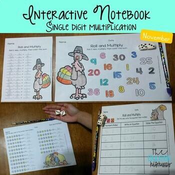 Interactive Notebook Multiplication - November