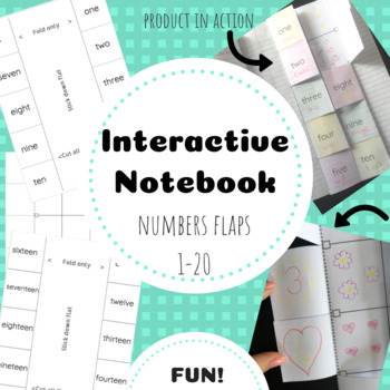 Interactive Notebook Number Flaps 1-20
