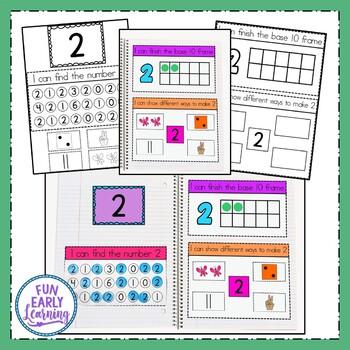 Interactive Notebook - Numbers 1-20