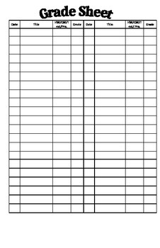 Interactive Notebook Organization Sheets