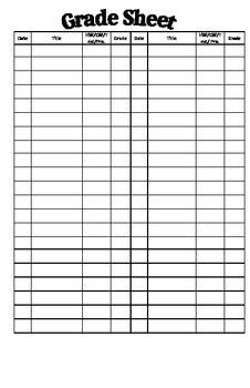 Interactive Notebook Organization Sheets