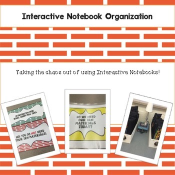 Interactive Notebook Organization Tool