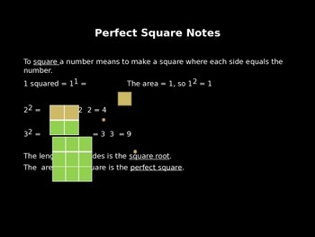 Interactive Notebook Outline Real Numbers, Perfect Squares