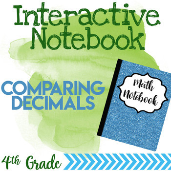 Interactive Notebook Page for Comparing Decimals