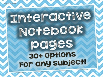 Interactive Notebook Pages for any subject
