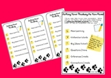 Interactive Notebook Pages & Bookmarks-Citing Evidence &Jotting Your Thinking