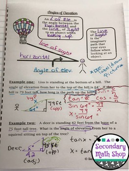 Interactive Notebook Pages - Geometry Pages (Growing) Money Saving Bundle