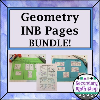 Interactive Notebook Pages - Geometry Pages (Growing) Mone