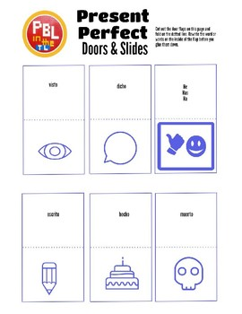 Interactive Notebook Pages: Present Perfect Doors & Slides