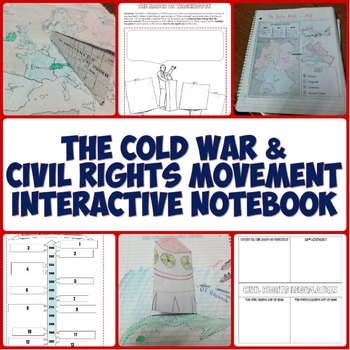 Cold War and Civil Rights Movement Interactive Notebook Bundle