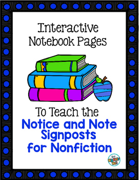 Interactive Notebook Pages for the Notice and Note Signposts for Nonfiction