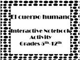 Interactive Notebook/ Partes del cuerpo humano