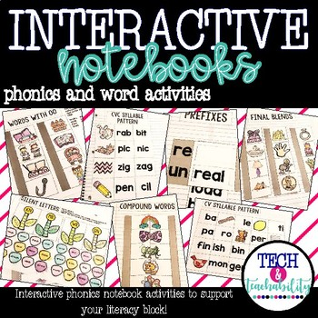 Interactive Notebook: Phonics and Word Activities!