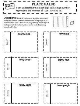 Interactive Notebook Place Value Activities