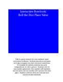 Interactive Notebook Place Value Roll the Dice