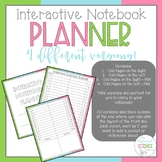 Interactive Notebook Planner (A planning tool for teachers)