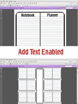 Interactive Notebook Planner Lesson Plan Organizer ELA Math Any Subject or Grade