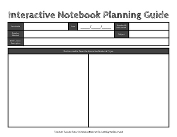 Interactive Notebook Planning Guide