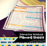 FREEBIE Interactive Notebook Planning Sheets