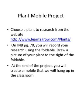 Interactive Notebook: Plant Flipbook