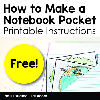 Interactive Notebook Pocket - How to Make a Notebook Pocket