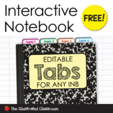 Free Interactive Notebook Tabs
