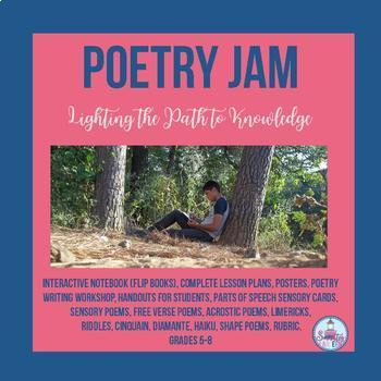 Poetry Jam interactive Notebook- Flip Book ( Grades 5-8)