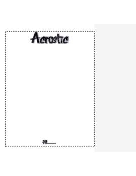 Interactive Notebook - Poetry Practice