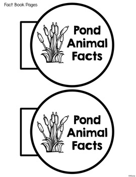Interactive Notebook- Pond Animals (Wetland)